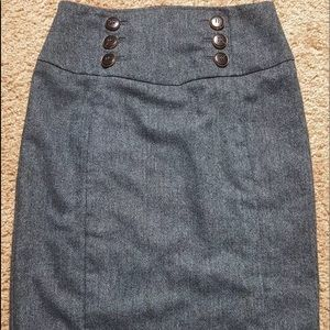 Express Wool Blend Double Breasted Skirt Sz 4